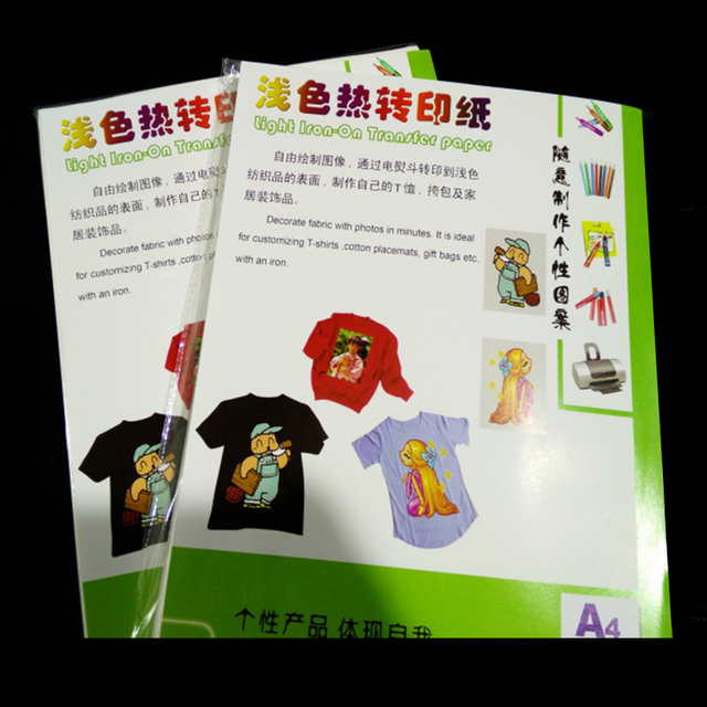 Wholesale Factory Price A4 A3 Size Light Dark T-shirt Laser Printer Printing Self Weeding Heat Transfer Paper for Textile
