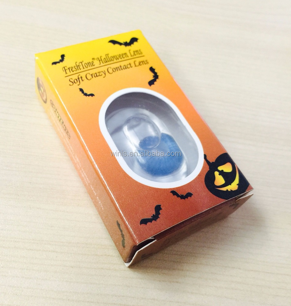 hot selling soft circle yearly korean freshtone halloween crazy contact lenses cosplay