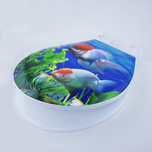 Cheaper price high quality Printing Hard plastic WC toilet seat cover