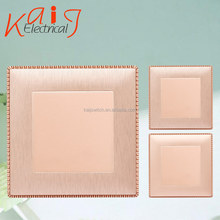 Electrical PC material gold blank wall plate for home