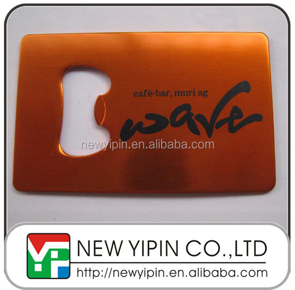 Cheap fashion credit card shape bottle opener with your logo
