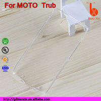 pc transparent mobile phone shell for MOTO Trub, cute cell phone case for Motorola trub G2 cover