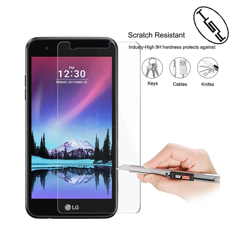 HUYSHE for LG <strong>K10</strong> 2017 screen guard protector anti-explosion tempered glass screen protector