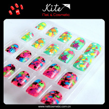 Cartoon kids false nails christmas fashional nail tips