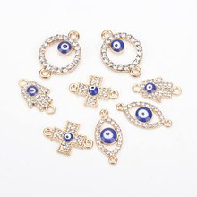 Lucky Evil Eye Pendent Four Types Evil Eye Diy Jewelry Accessories Charms Necklace Bracelet Connectors Bails