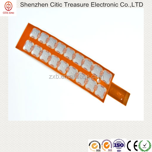 Metal domes keypad copper flex circuit for pcb