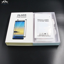 Full Coverage Bubble Free 9H Liquid Dispersion Tech UV Glue Tempered Glass Screen Protector For Samsung Galaxy S8 S8 plus