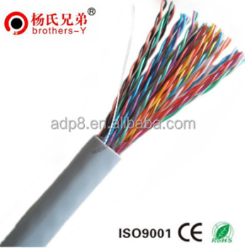 100 pairs indoor telephone cable CCA/COPPER cat3 shielded telephone cable/internal