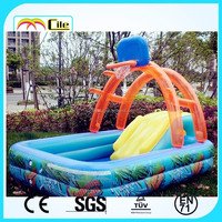 CILE Colorful Water Play Equipment Inflatable Wading Pool for Baby Swimming