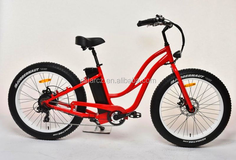 Rear motor motorized bicycle 26 inch fat tire electric dirt bike RSEB506