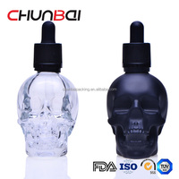 60ml skull e-liquid bottle with tamper evident seal professtional factory in China