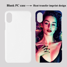Alibaba hot sale PC 3d sublimation blank phone cover custom printing design heat transfer PC case for iphone X