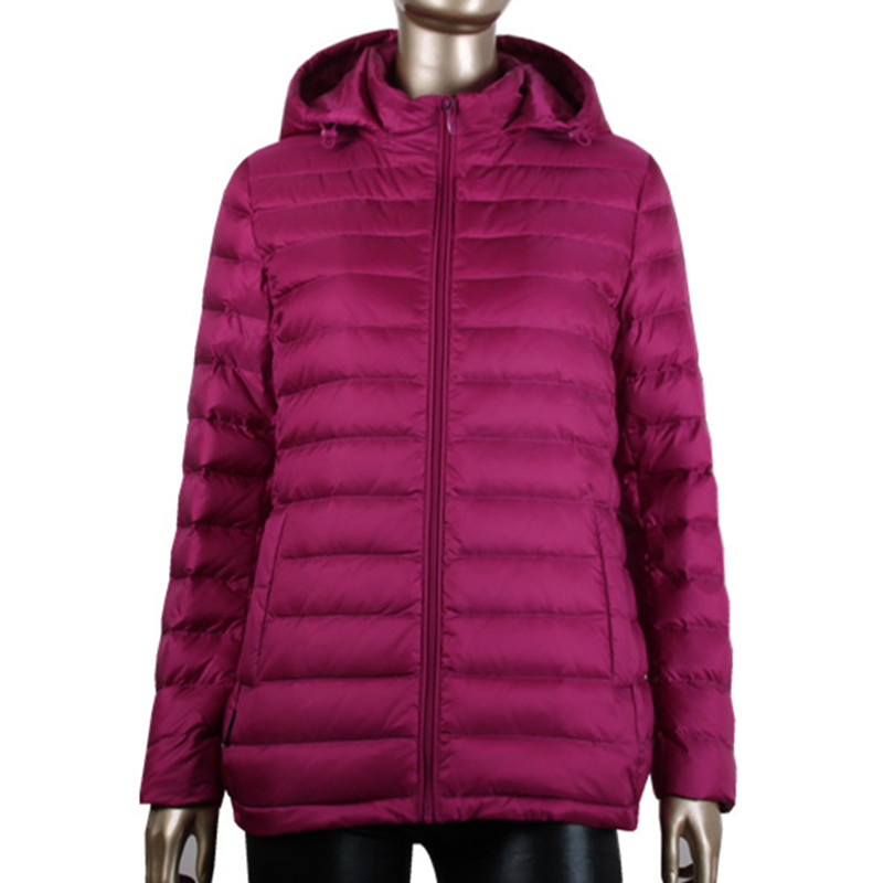 Factory Price Hot Sale Italian Fashion Brand Ultra Light Casual Red Outdoor Porn Skin Ultralight Goose Down Winter Jacket Women