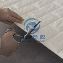 3D PE foam Brick Wall Paper New products hot selling white brick wallpaper