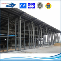 Insulation prefabricated steel framed office building