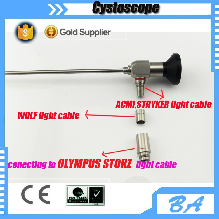 Top seller Cystoscope 4x302mm Endoscope compatible with Storz Olympus Wolf Stryker and ACMI light cable
