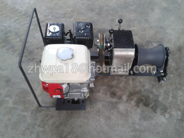 Hydraulic Cable Pulling Machine : New type gasoline power cable capstan winches pulling