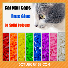 New Popular Silicone Cat Nail Caps Cat Claw With Free Glue And Applicator Size XS S M L