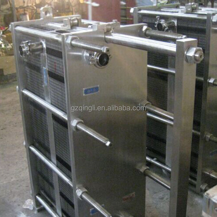 Food grade stainless steel plate heat exchanger for milk