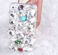 Luxury crystal big bling diamond hard case for iPhone4 4S