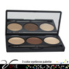 FB-3 hot private label eyebrow of 3 naked color eyebrow powder all matte