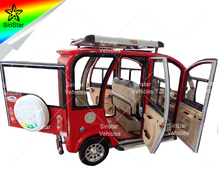 Enclosed Bajaj Tricycle Three Wheels Motorcycle With Lead Acid Battery