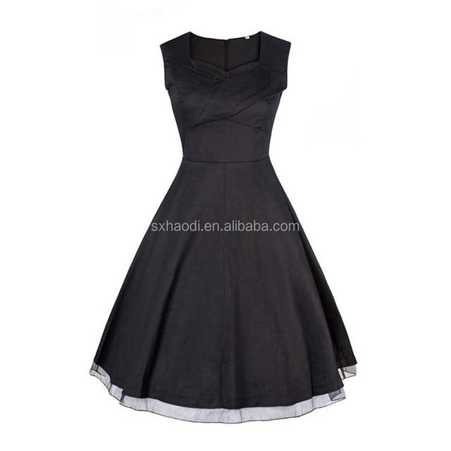UK Style Black 1950s designs Vintage dress or floral printed Retro designs