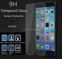 Best Price LCD Clear Front Straight Edge 0.3mm Premium Tempered Glass Screen Protector Film For iphone 6 with Package