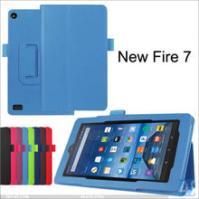 For 2015 New Kindle Fire 7 Stand Flip PU Leather Book Style Tablet Case Cover