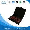 "Protective leather shell 7-8"" tablet colorful backlit bluetooth keyboard"