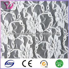 White Soft Nylon polyamide Cotton spandex Textile Lace Fabric for Bridal transparent look, girl shirt