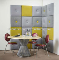 high quality leather covered wall panel acoustic foam panel low price