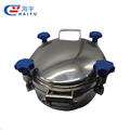 Sanitary tank oval elliptical manhole cover with pressure