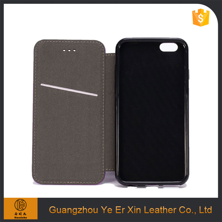 2017 guangzhou manufacturer wholesale pu leather cell phone case for iphone 6 6s 7plus