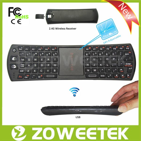 Popular 2.4Ghz Wireless Keyboard With Touchpad For Google Chromecast