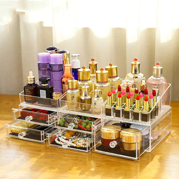 High Quality Transparent Acrylic Cosmetic Organizer Makeup Storage Box