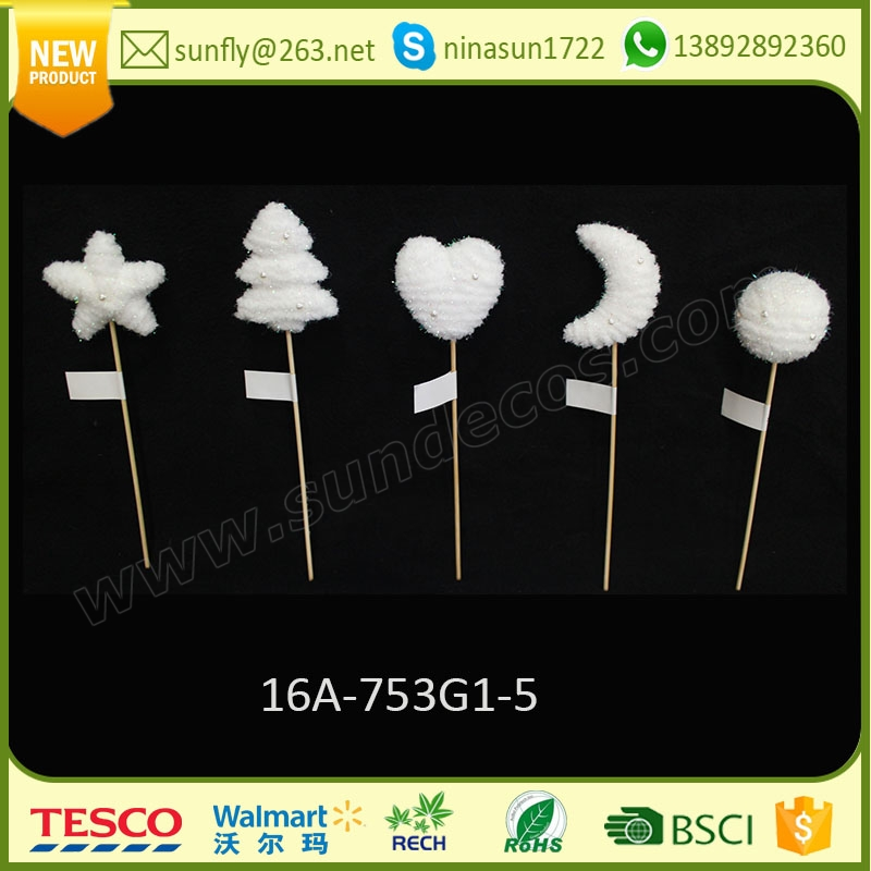 2016 handmade christmas decoration holiday living christmas ornaments items with stick for xmas home decorations