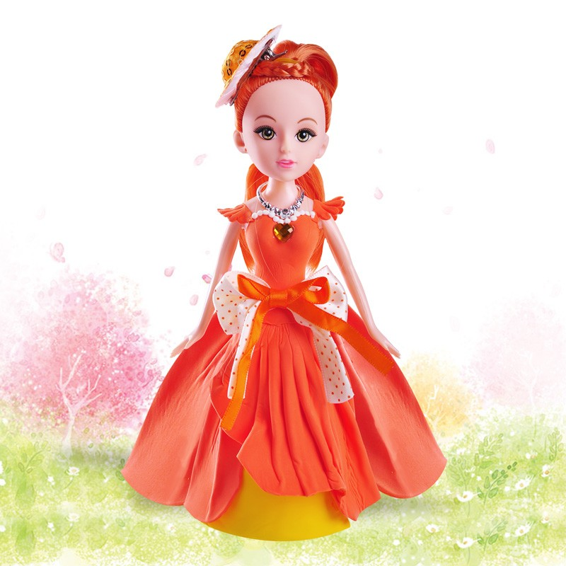 new toys for kid 2016 gift set DIY princess handmade clay doll