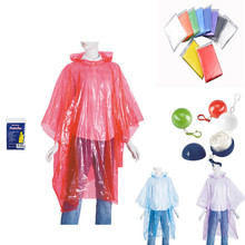 Emergency promotion high quality LDPE disposable waterproof poncho/rain coat poncho