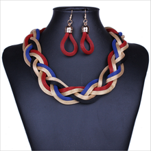 Yongze fashion aluminum chain citi trends jewelry alloy earrings and necklaces set female jewelry statement necklace jewelry