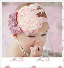 baby girl infant Feather headbands,baby cute hair accessories