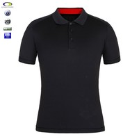 Custom Oem Splicing Man's 100 Cotton Polo Shirts With Pockets