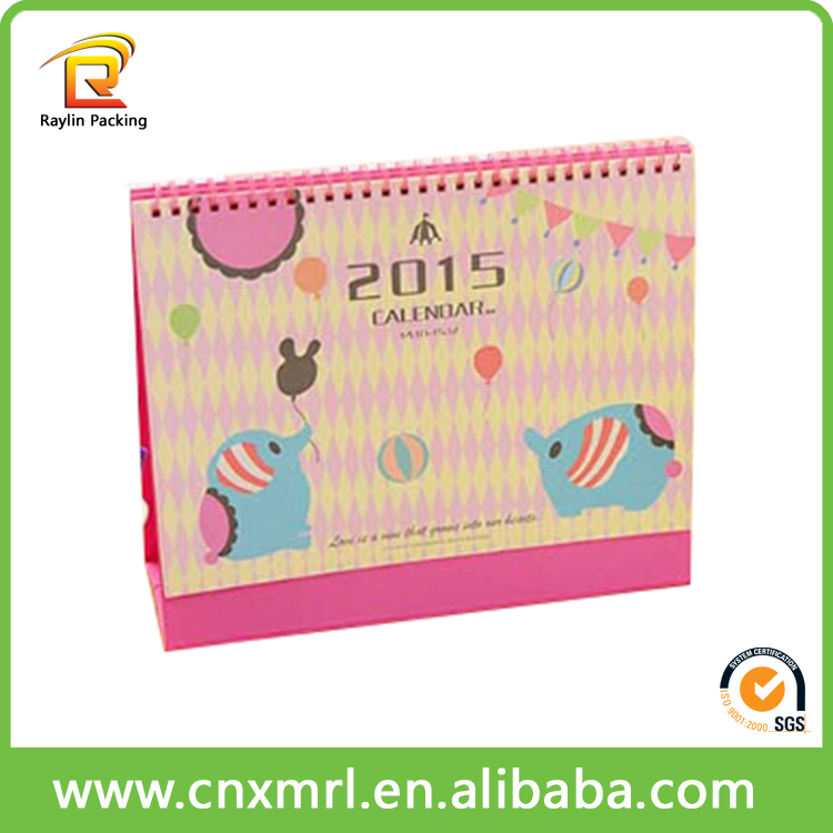 Promotional full color printing desk islamic hijri calendar