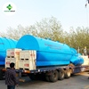 Large capacity used tires /plastic pyrolysis plant to oil machine