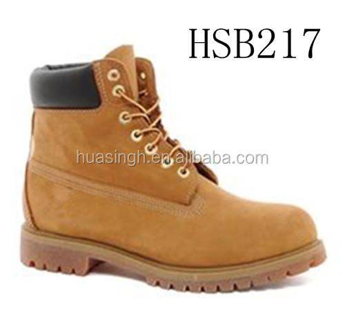 hiker design safety protection 6inch waterproof men wheat leather shoes/work boots