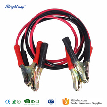 2M 4 Gauge Car PVC Booster Cable Emergency Battery Cable with Clamps Jumper Starter