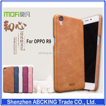 High Quality Mofi PU Leather Back Cover Cases For OPPO R9