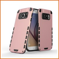 Factory hybrid pc tpu phone cover for samsung galaxy s6 edge case