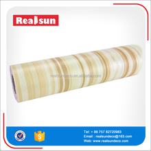 pvc self adhesive lamination plastics film yellow walls paper