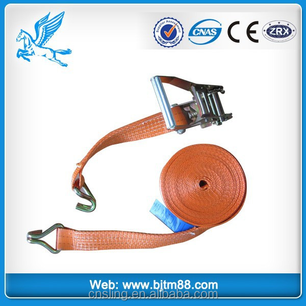 2500kg capacity 50mm wide x 8meter long pe slack line/tight rope/ ratchet tiedown